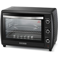 Black & Decker 70L Double Glass Multifunction Toaster Oven with Rotisserie for Toasting/ Baking/ Broiling, Black - TRO70RDG-B5