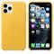 Apple iPhone 11 Pro Leather Case, Meyer Lemon