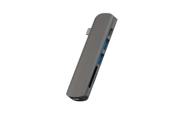 Addicted AD005SI 6 Port Type C USB Hub Grey