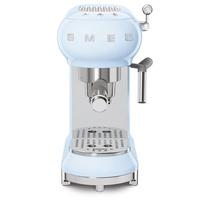 Smeg ECF01PBUK Espresso Coffee Machine, Pastel Blue
