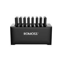 Romoss Charging Station with 8 x 10000mAH Power Bank, Black