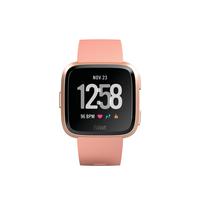 Fitbit Versa Fitness Watch, Peach/Rose Gold Aluminum