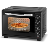Black & Decker 55L Double Glass Multifunction Toaster Oven with Rotisserie for Toasting/ Baking/ Broiling, Black