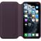 Apple iPhone 11 Pro Max Leather Folio, Aubergine