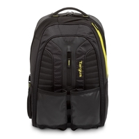"Targus Work+ Play Rackets 15.6"" Laptop Backpack, Black/Yellow"