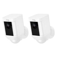 Ring Spotlight Cam Battery Outdoor (2-Pack) , White