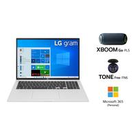 "LG GRAM 17Z90P i7-1165G7, 16GB RAM, 1TB SSD, Intel Iris Xe Graphics, 17"" WQXGA Laptop, Silver"