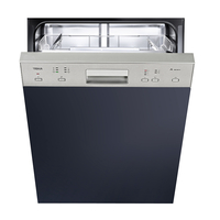 Teka 60 cm Built-In Semi-integrated Dishwasher DW 605 S, 6 Programs, 12 Place settings, Stainless steel