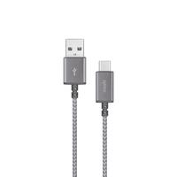 Moshi Integra USB-C to USB-A Charge Cable 0.8 ft, Titanium Grey