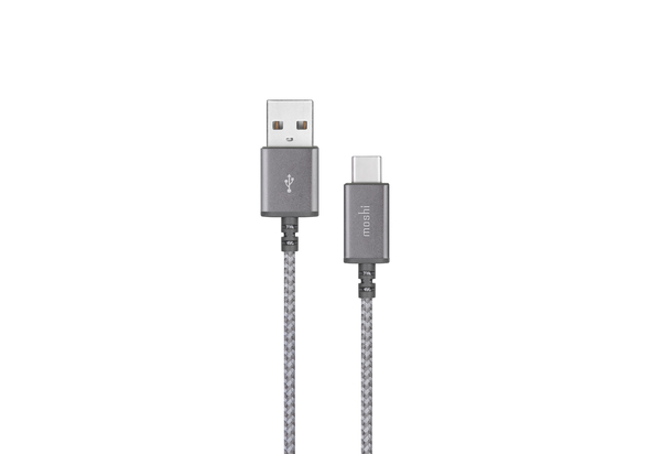 Moshi Integra USB-C to USB-A Charge Cable 0.8 ft, Titanium Grey