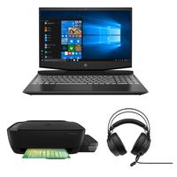 "HP Pavilion Gaming 15-dk1000ne, Core i7-10750H, 16GB RAM, 1TB HDD+ 256GB SSD, Nvidia GeForce GTX 1650 4GB Graphics, 15.6"" FHD 144Hz Gaming Laptop, Black"