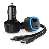 Alogic Rapid 2 Port USB-A+ USB-C Car Charger 12W+ 45W Power Delivery