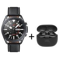 ساعة سامسونج جلاكسي 3 بلوتوث 45 ملم مع جي بي ال تيون 120 ، لون أسود