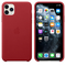 Apple iPhone 11 Pro Max Leather Case, (PRODUCT) RED