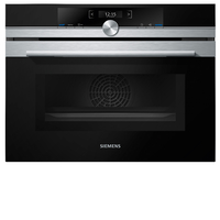 Siemens Built In Compact Oven with Microwave Function, 60 cm, CM633GBS1M