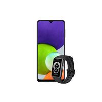 Samsung Galaxy A32 6GB 128GB Smartphone LTE, Black with Huawei Band 6, Black