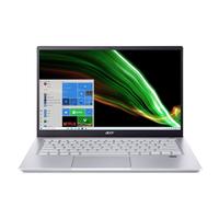 أيسر سويفت Swift X, Ryzen 7-5700U, Nvidia GeForce GTX 1650 ذاكرة 16 جيجا سعة 1 تيرا بايت , 4 جيجا جرافيكس , شاشة 14 انش الترابوك, فضي