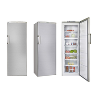 Teka 290 liters Free Standing Upright Freezer TGF3 270 NF, No Frost, Stainless steel