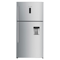 Hisense A+ Top Mount Refrigerator - 715 LTR deodorizing filter with Water Dispenser, Stainless Steel