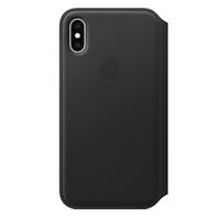 Apple iPhone XS Leather Folio Case,  Black