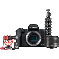 Canon EOS M50 Mark II Mirrorless Digital Camera with EF-M 15-45mm IS STM Lens Vlogger Kit