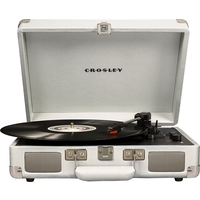 Crosley CR8005D-WH4 Cruiser Deluxe Turntable with Speaker, White Sand