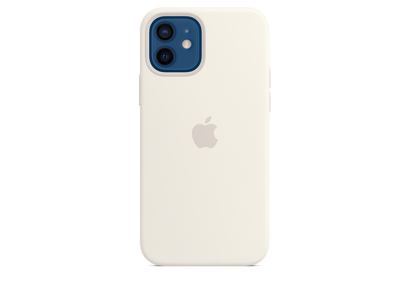 Apple iPhone 12| 12 Pro Silicone Case with MagSafe, White