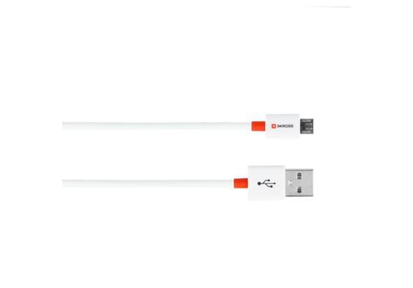 Skross Charge N Sync Micro USB Cable, White
