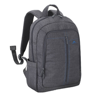 """Riva Case 7560 Laptop Canvas Backpack 15.6"""" , Grey"""