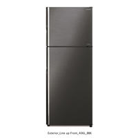 Hitachi RV550PUK8KBBK 550L Top Mount Intverter Refrigerator, Brilliant Black