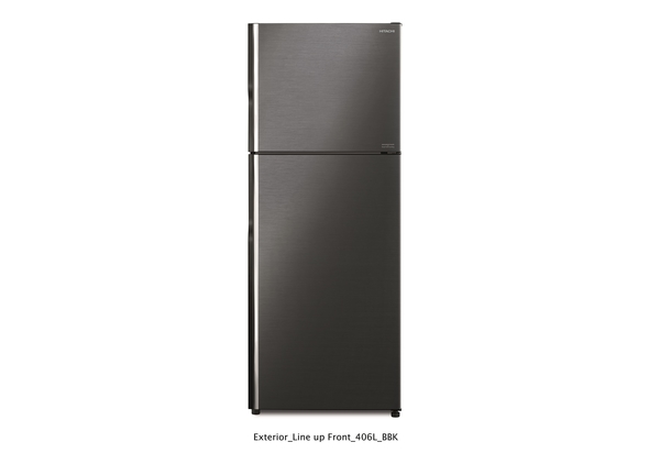 Hitachi RV550PUK8KBBK 550L Top Mount Intverter Refrigerator, Brilliant Black