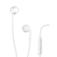 Cellularline LIVE Capsule Earphone With Mic, White
