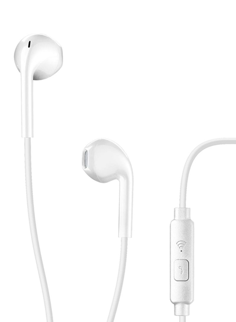 - Cellularline LIVE Capsule Earphone With Mic, White