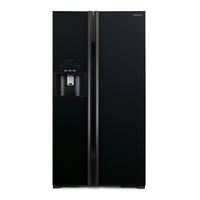 Hitachi RS700GPUK2GBK 700L Side By Side Refrigerator, Glass Black