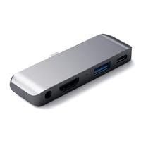 Satechi Aluminum Type-C Mobile Pro Hub Adapter, Space Gray