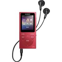 سوني وولكمان NW-E394 مشغل موسيقى , 8 جيجا بايت , أحمر