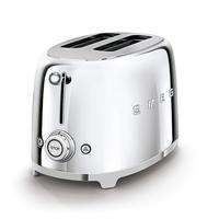 Smeg TSF01SSUK 2 Slice Toaster, Chrome