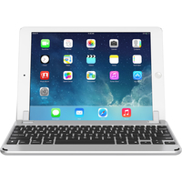"Brydge 9.7 Bluetooth Keyboard for iPad Air 1/2, Pro 9.7"" & 2017/2018 iPad English and Arabic,  Silver"