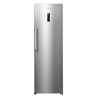 Hisense A+ Up Right Freezer 341LTR 7 Drawer, Electronic control, LED display, Big frozen drawer, More storage S. Steel Finish, Silver
