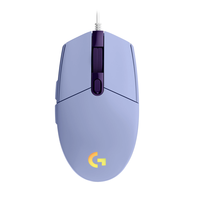 Logitech G203 Lightsync RGB Lighting Optical Wired Gaming Mouse, Lilac