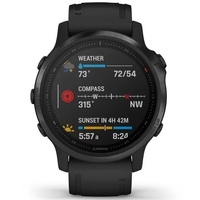 Garmin Fenix 6S Pro Multisport GPS Watch, Black