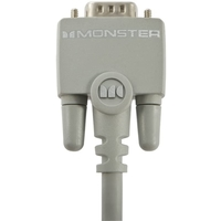 Monster HPM VGA-10 ES DB15 VGA to VGA Component Computer Video Cable 10 feet, Grey