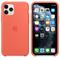 Apple iPhone 11 Pro Silicone Case, Clementine Orange
