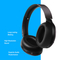 Play Go BH70 AI Based Headphones with Hybrid Active Noise Cancellation,  Graphite Grey
