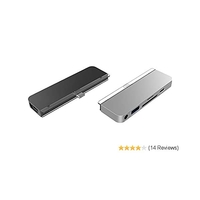 Hyper HyperDrive 6-in-1 silver dual-slot-Card Readers, USB-C 3.0[ plug] (HD319-SILVER)
