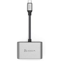 Adam Elements AAPADHUBVH1GY CASA Hub VH1- USB-C to VGA/HDMI 2-in-1 Display Hub, Grey