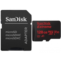 SanDisk 128GB Extreme microSD UHS-I Card with Adapter