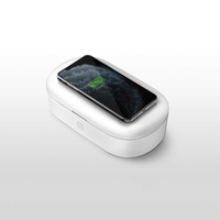 Viva Madrid Vanguard Vault Pro UV Sanitizing Box with Wireless Charger 10W, White