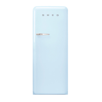 Smeg FAB28RPB3GA Single Door Refrigerator 281 L