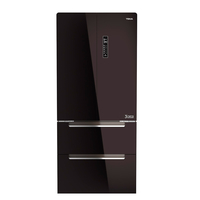 Teka 537 liters French Door Gourmet RFD 77820, Bottom freezer, Full No Frost, Black Glass finish, Touch control